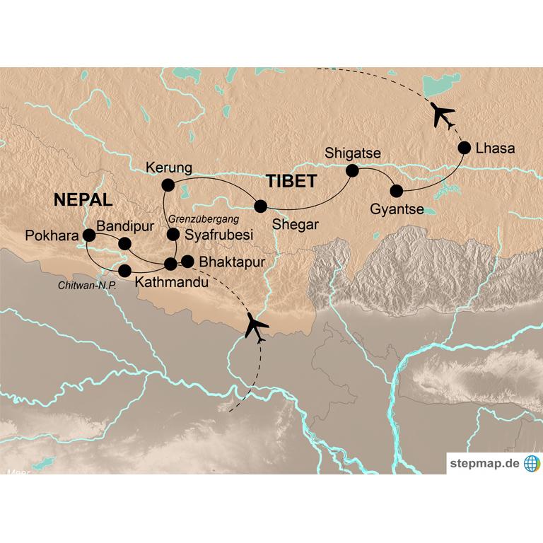 Nepal und Tibet – Vom Dschungel Nepals bis auf das Dach der Welt