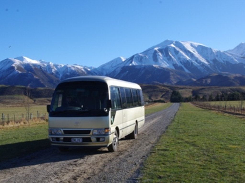 Einer unserer Reisebusse in Neuseeland.