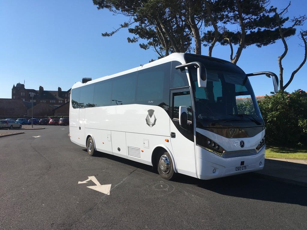 Einer unserer Busse in Schottland.