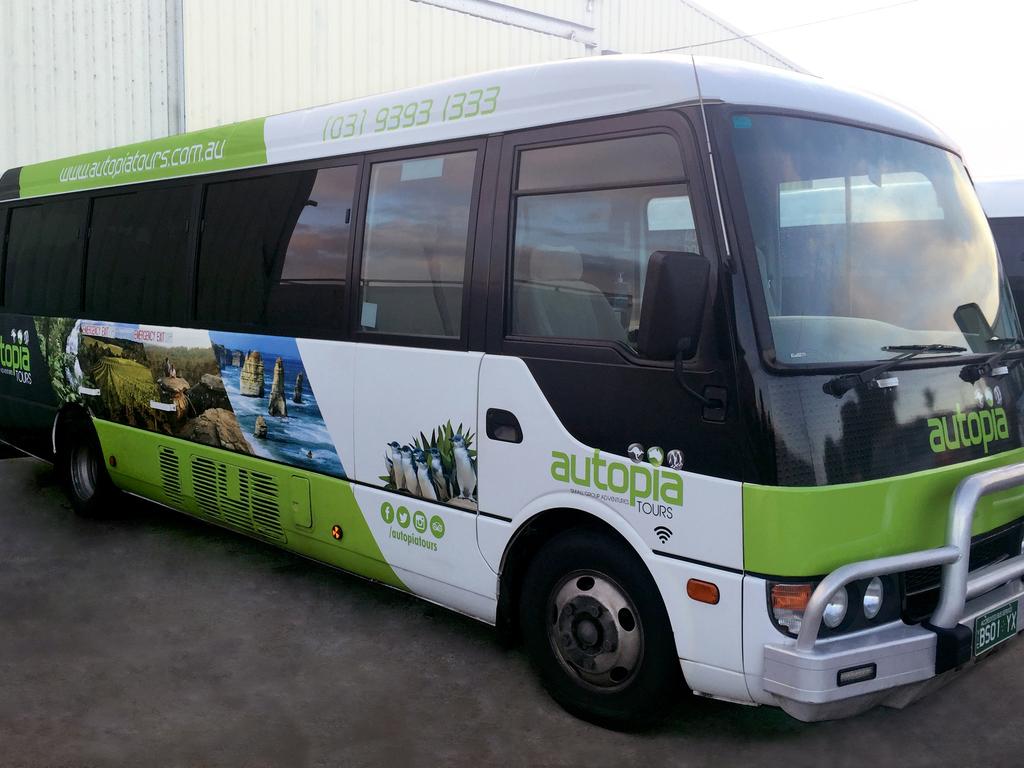 Einer unserer Reisebusse in Australien