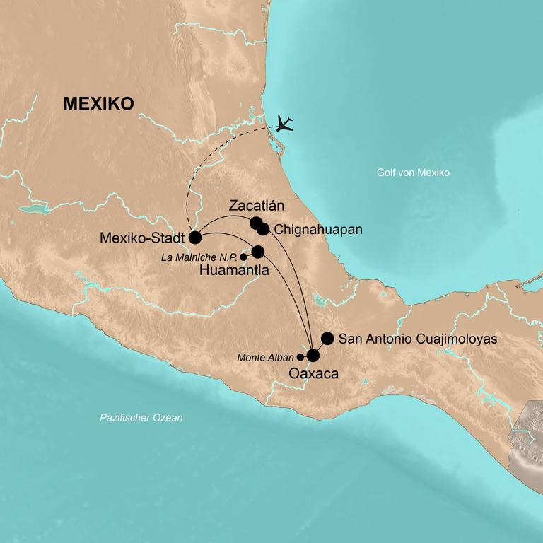 Mexiko – Das unbekannte Mexiko aktiv entdecken