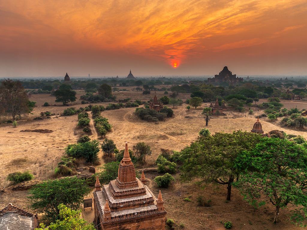Bagan: mit E-Bike und Bus das Tempelmeer entdecken, Dorfbesuche