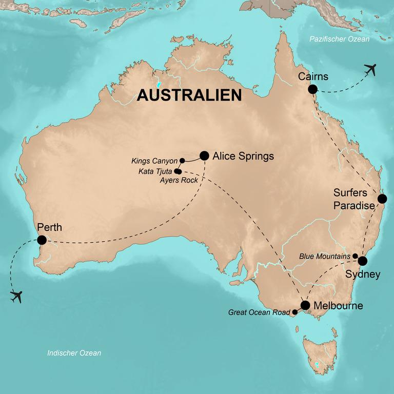 """Australien – """"Best of Australia"""" – Australien entspannt und umfassend"""