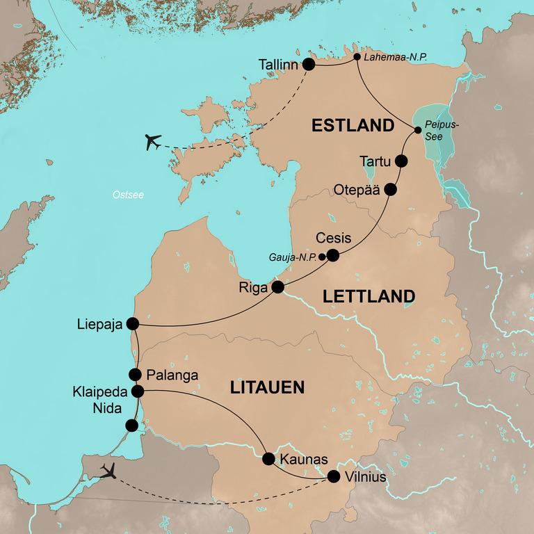Litauen-Lettland-Estland mit dem Fahrrad – Auf dem Drahtesel durch das Baltikum