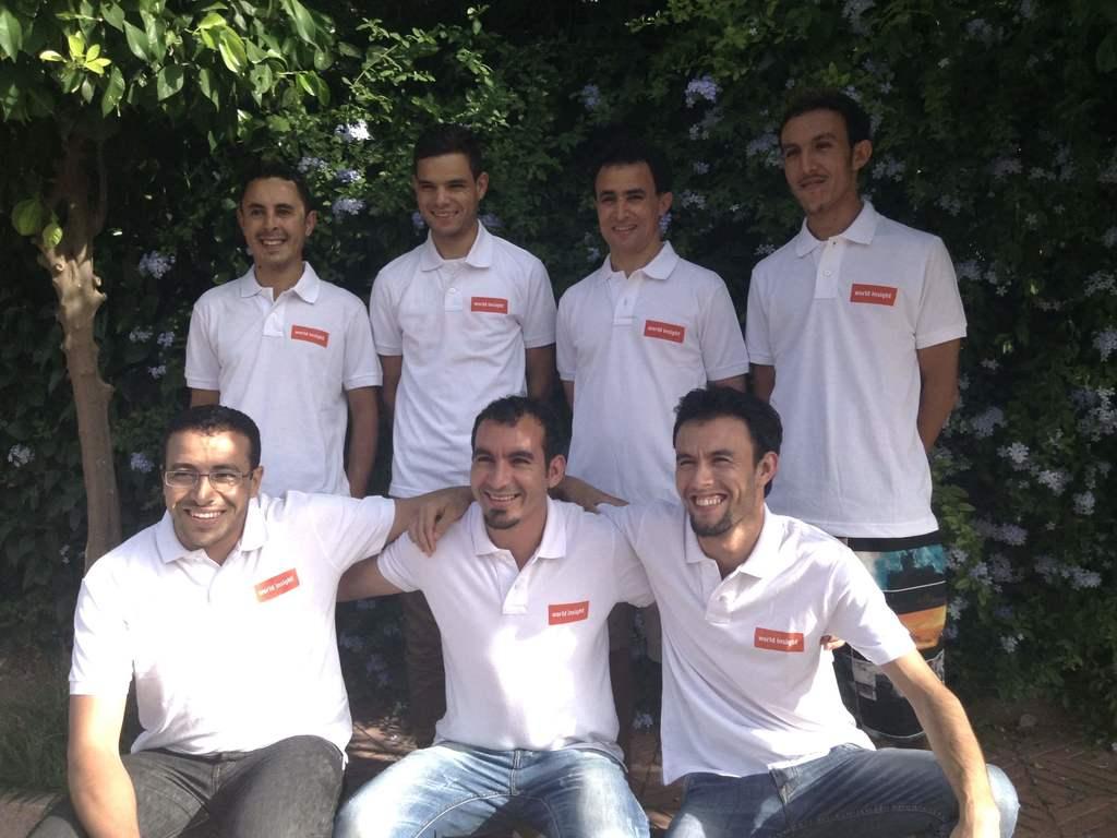 Team vor Ort in Marokko
