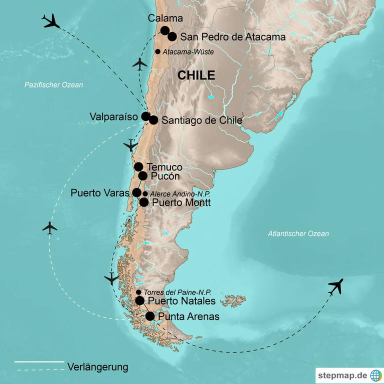 Chile mit Verlängerung Osterinsel – Land der Extreme zwischen Feuer und Eis