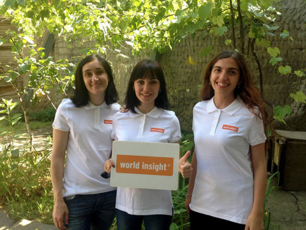 Unser Team in Georgien: Lela, Khatuna und Tinatin (v. l.)