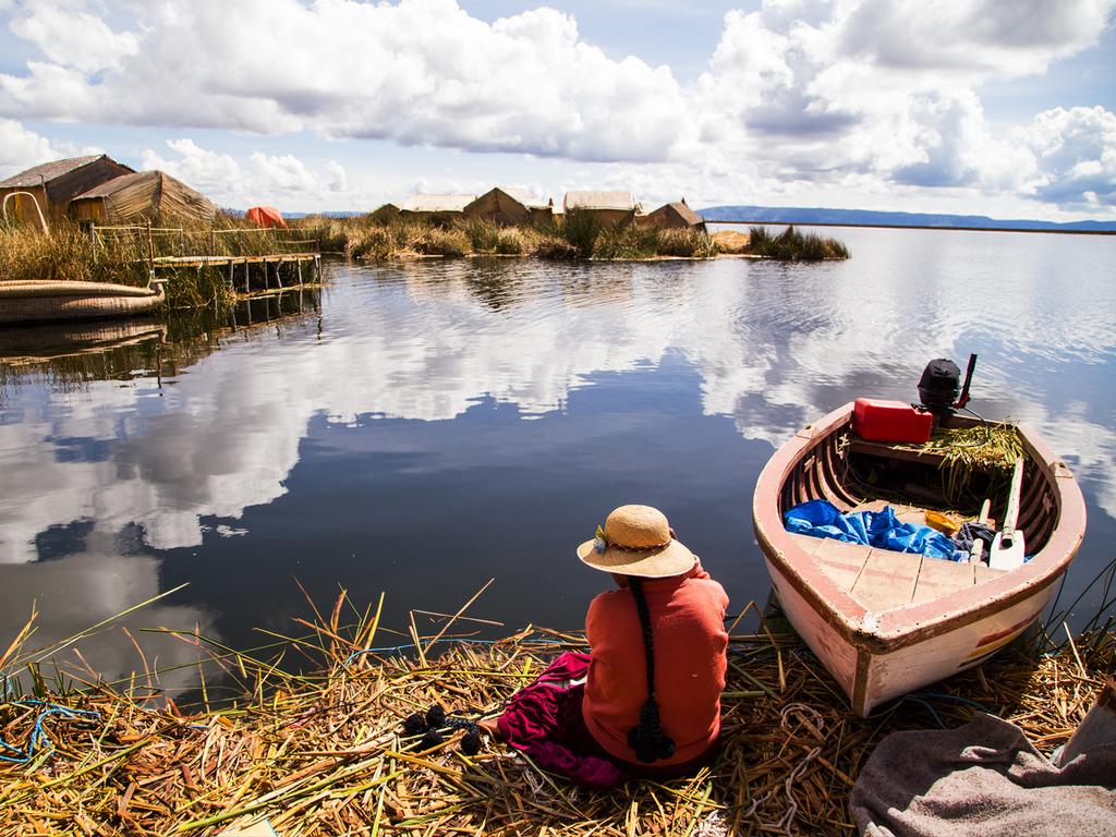 Puno und der Titicacasee: Bootsfahrt zu den schwimmenden Inseln und weiter nach Taquile, Wanderung