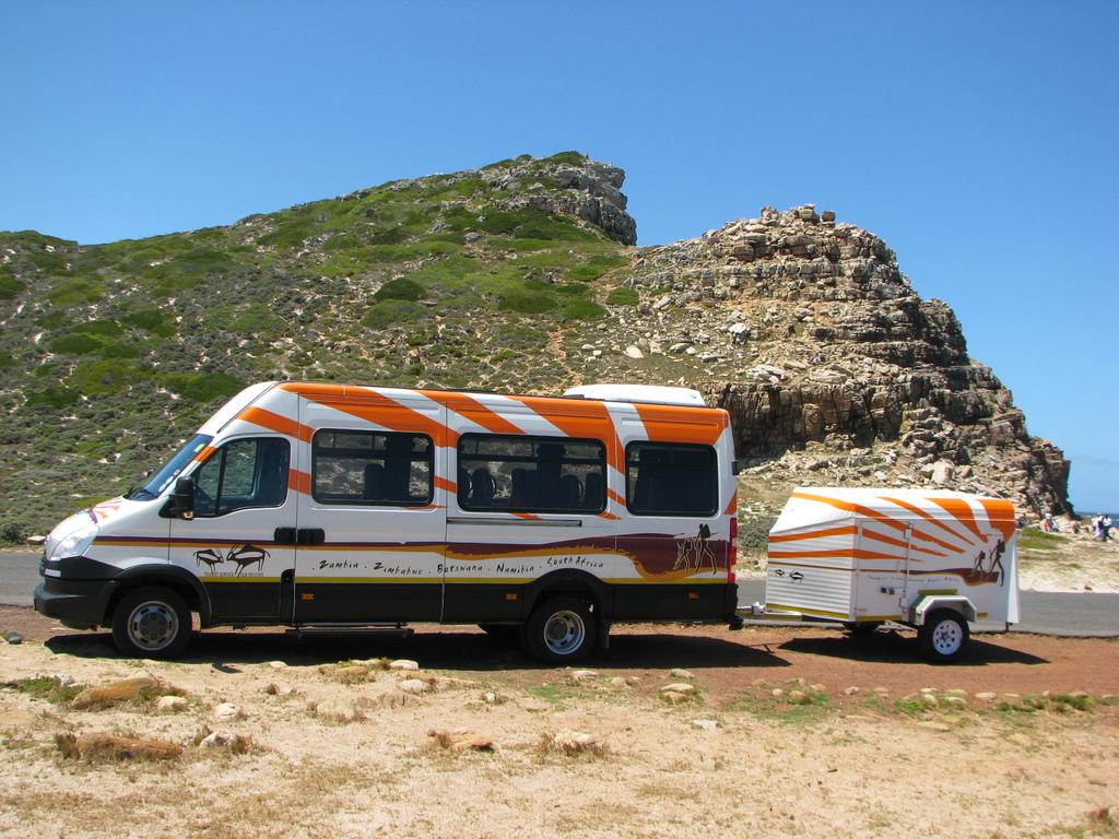 Einer unserer IVECO-Kleinbusse im südlichen Afrika