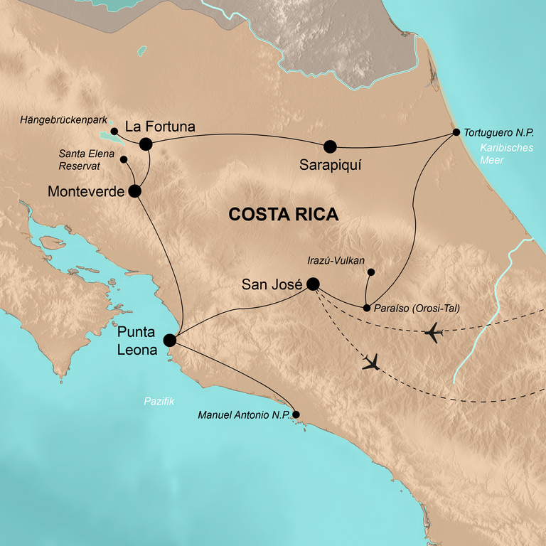 Costa Rica  – Wie Tarzan durch den Dschungel