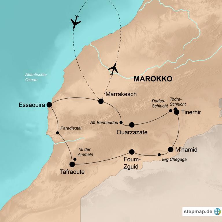 Marokko: der Süden – Nomaden, Wüsten, alte Kasbahs