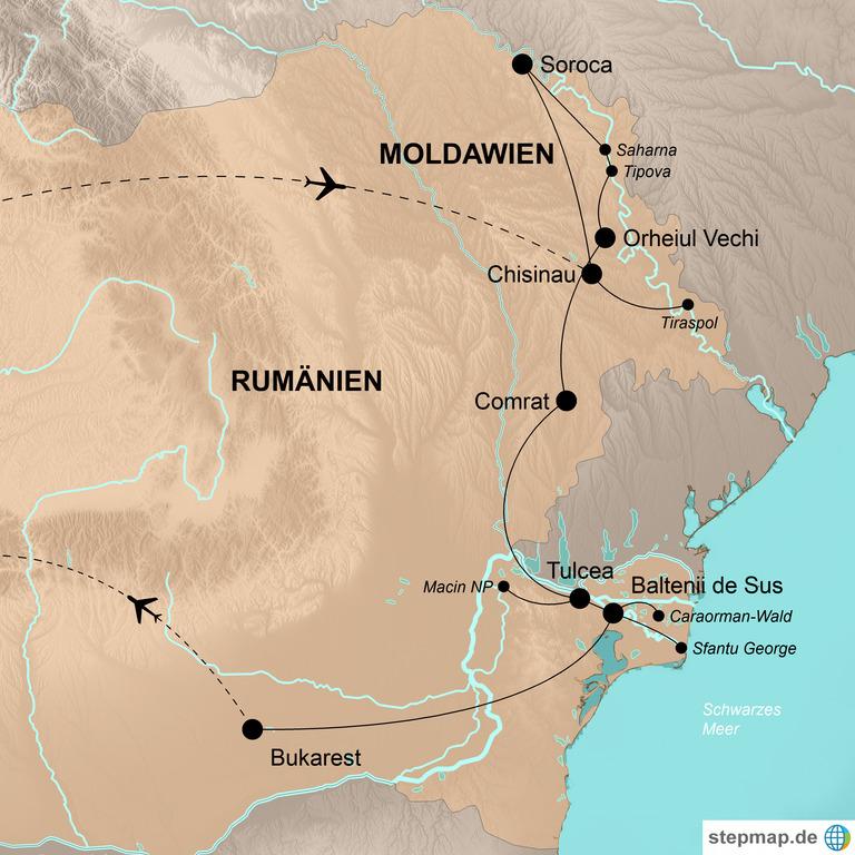 Moldawien und Rumänien – Wandern, Wein und wildes Donaudelta