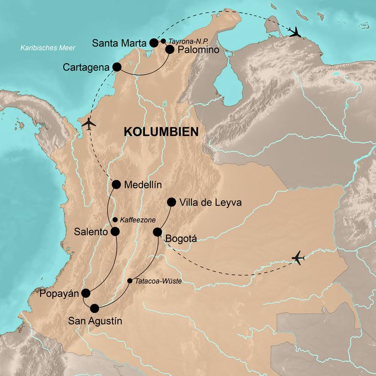 Kolumbien – Unentdecktes Paradies in Südamerika