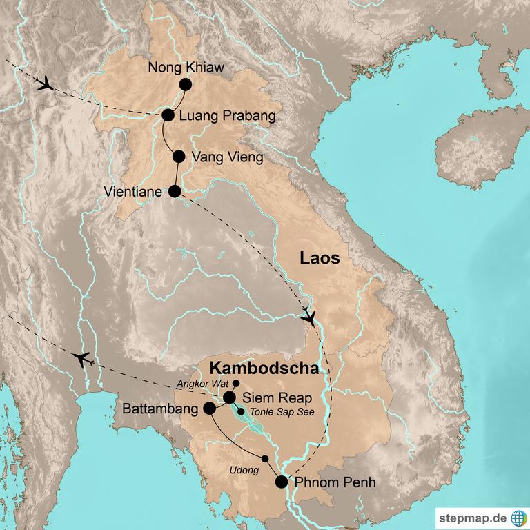 Laos und Kambodscha –