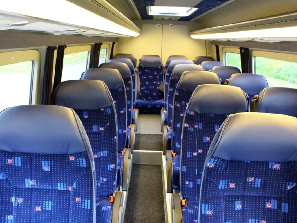 Beispiel für die Innenansicht eines Minibusses
