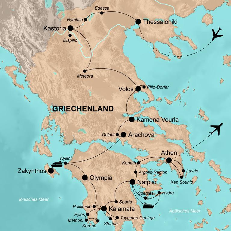 Griechenland: die umfassende Reise – Im Herzen von Hellas