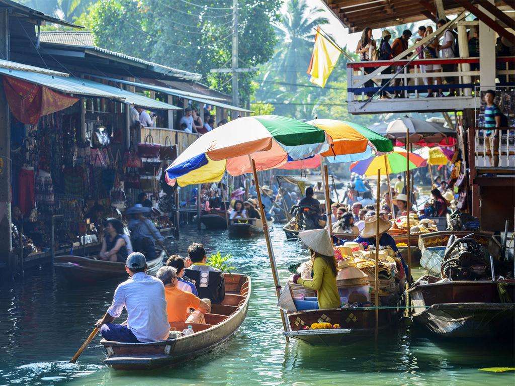 Bangkok: freier Vormittag, Klong-Tour, Welcome Dinner