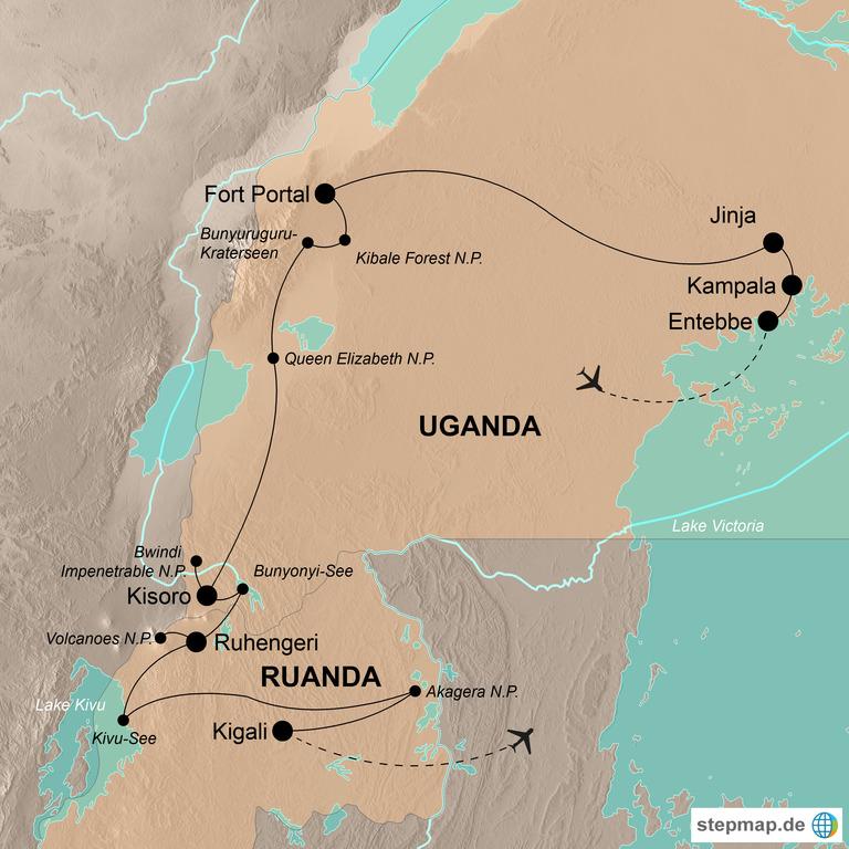 """Uganda und Ruanda – Länder der """"1.000 Hügel"""" und Berggorillas"""