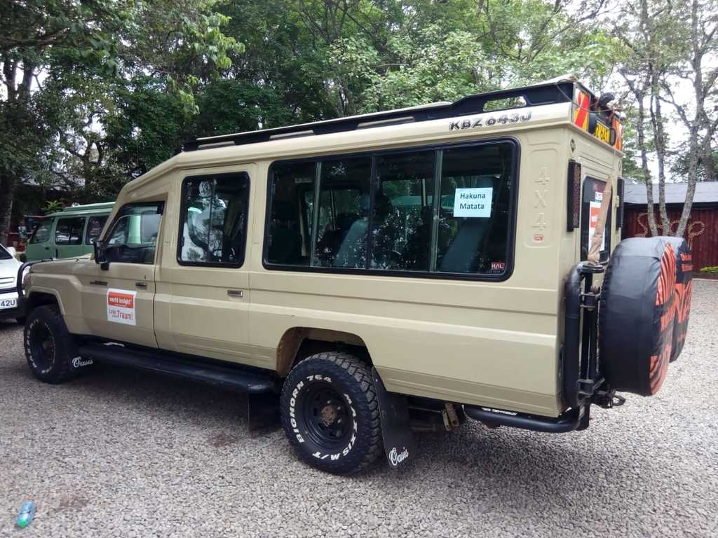 Einer unserer Jeeps in Kenia