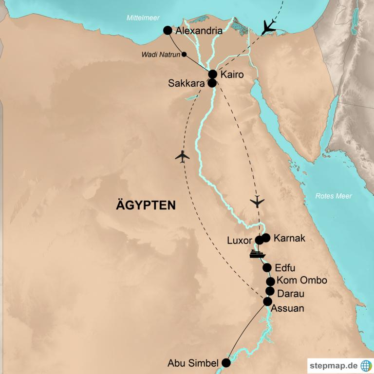 Ägypten – Unter weißen Segeln nilaufwärts