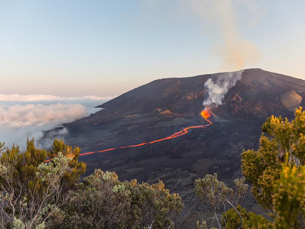 Piton de la Fournaise : Besteigung des aktiven Vulkankraters