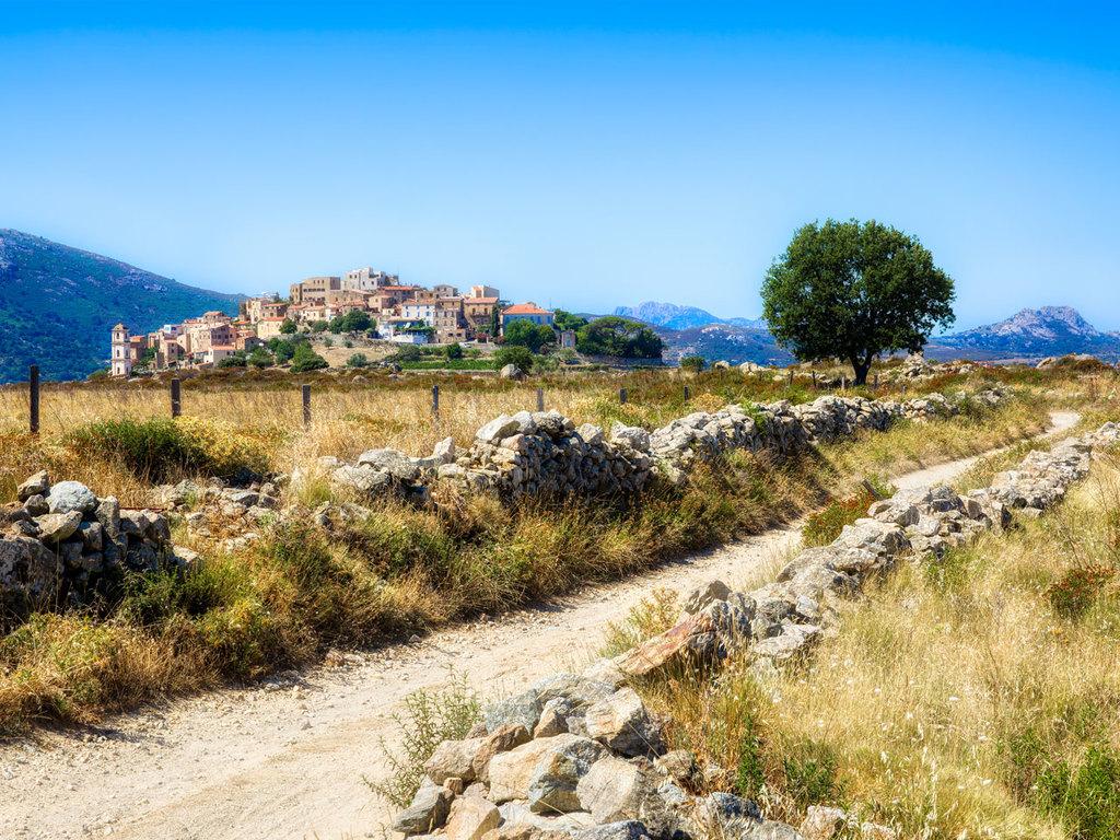 Algajola und die Balagne : Wanderung durch die Balagne nach Sant'Antonino, Besuch bei einem Bauern, Fahrt nach Pigna und Spaziergang durch den Ort