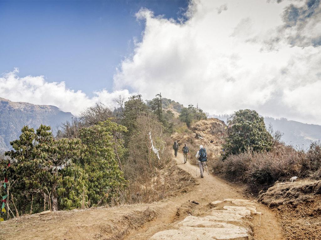 Trekking in der Annapurna-Region: Wanderung nach Ulleri, weiter nach Banthani bis Ghorepani