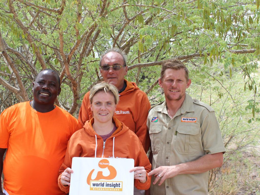 Unser Team rund um Sven in Windhoek, Namibia
