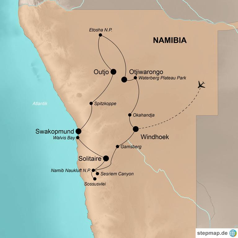 Namibia mit dem Fahrrad  – Auf dem Bike durch die Savanne