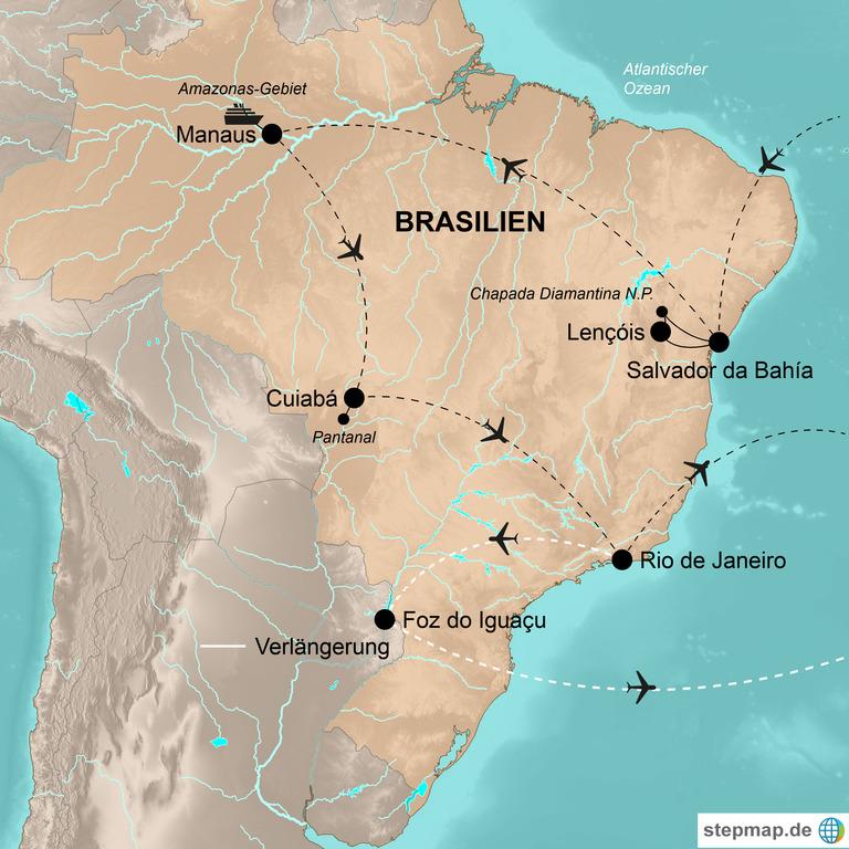 Brasilien mit Verlängerung Iguaçu-Wasserfälle – Südamerikas Garten Eden