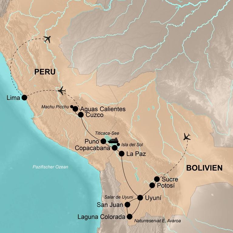 Bolivien und Peru – Faszinierende Andenländer
