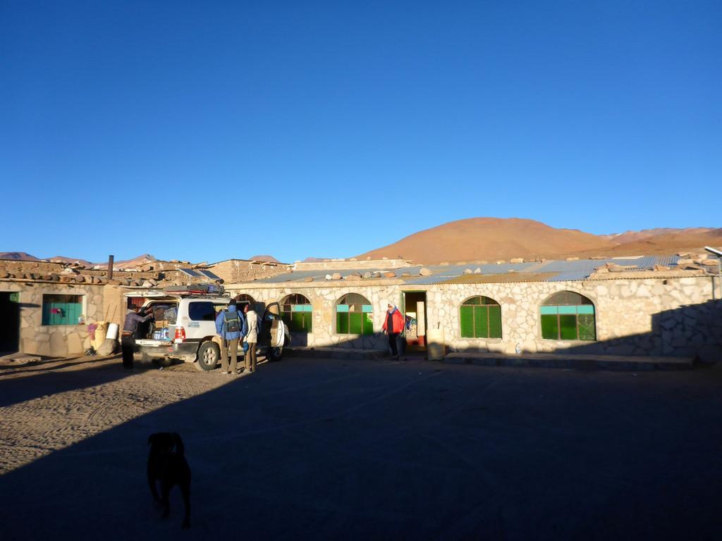 sehr einfaches Gästehaus an der Laguna Colorada