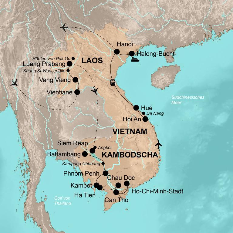 Laos, Kambodscha und Vietnam – Große Indochina-Reise