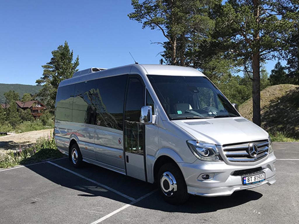 Einer unserer Busse in Norwegen.