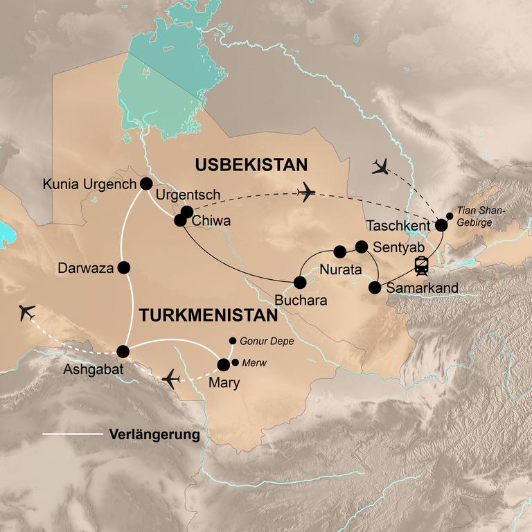 Usbekistan mit Verlängerung Turkmenistan – Marmor, Mosaike, Medresen