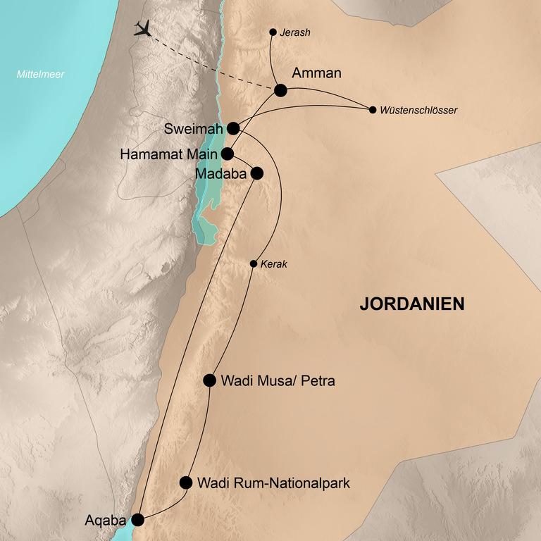 Jordanien – Kultur und Entspannung im Land der Nabatäer