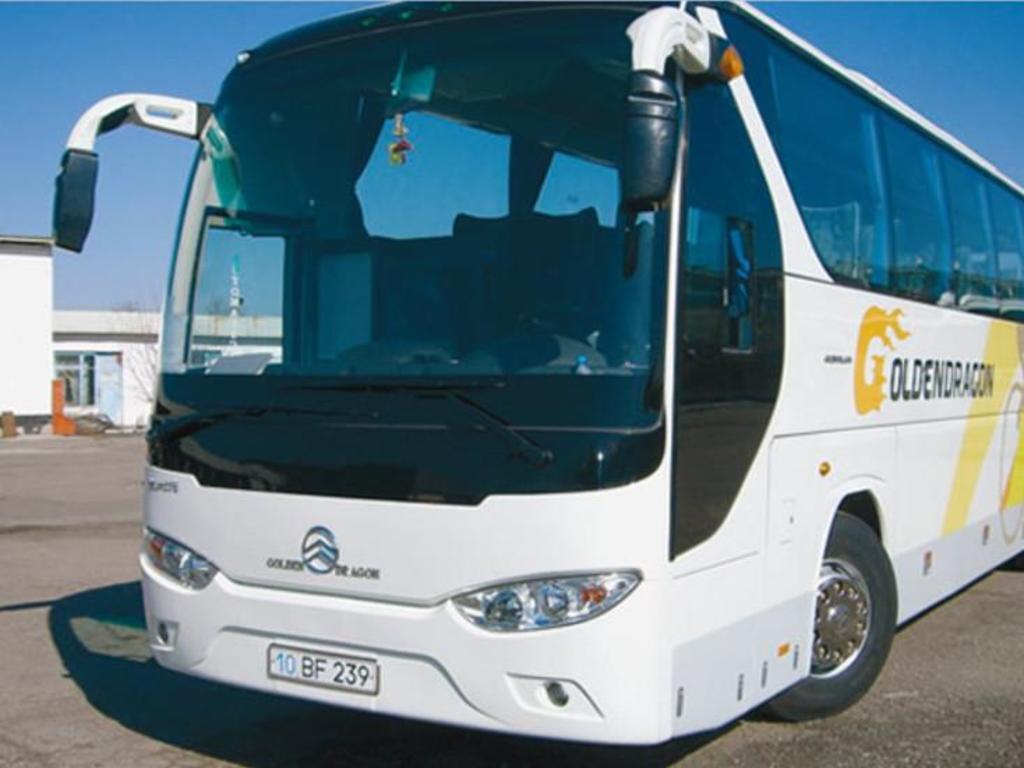 Ein typischer Bus für unsere Gruppen in China