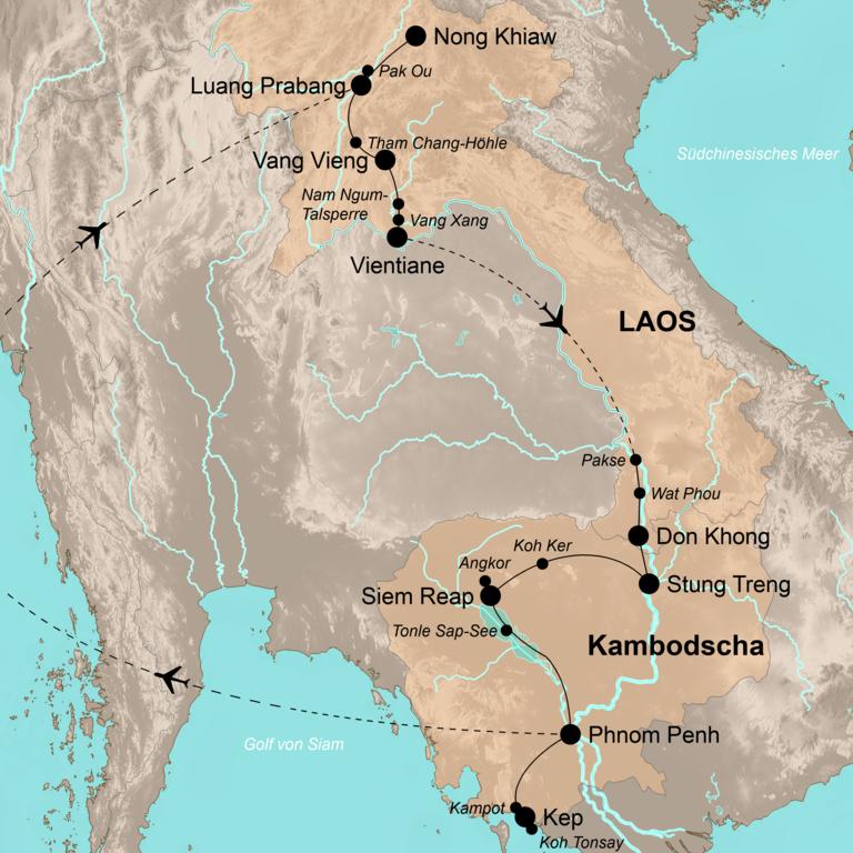 Laos und Kambodscha – Immer den Mekong entlang