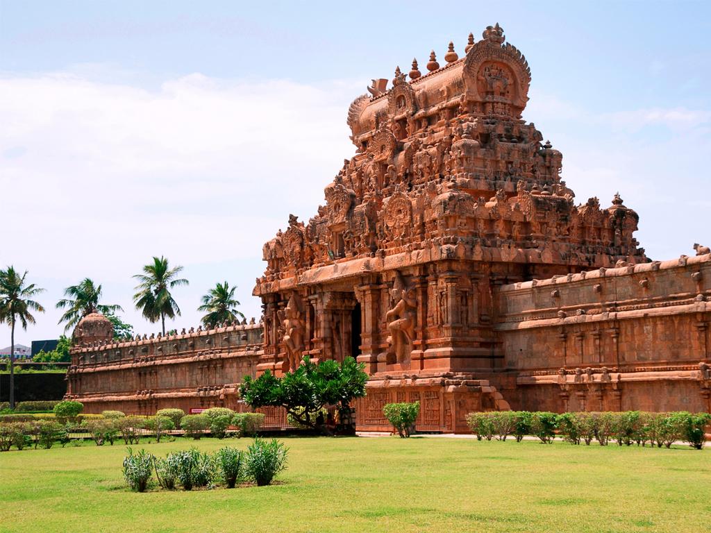 Tanjore: Brihadishwara-Tempel, Saraswati Mahal-Bibliothek, Marktbesuch