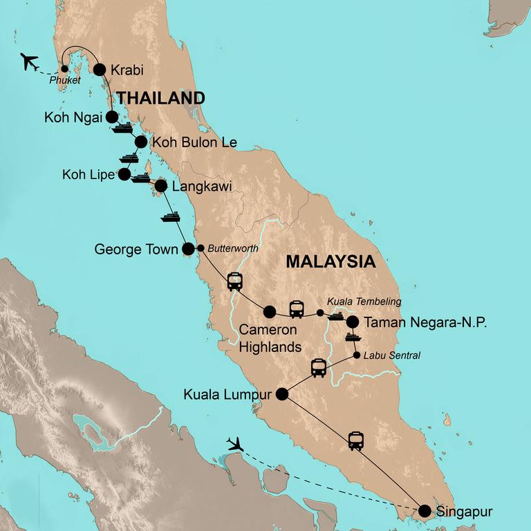 Singapur, Malaysia und Thailand – Inselhüpfen durch Südostasien