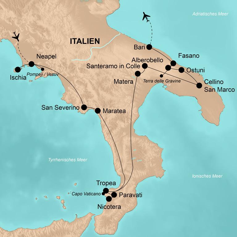Italien: der Süden – Von Neapel bis Bari