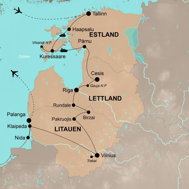 Estland-Lettland-Litauen – Das malerische Baltikum umfassend erleben
