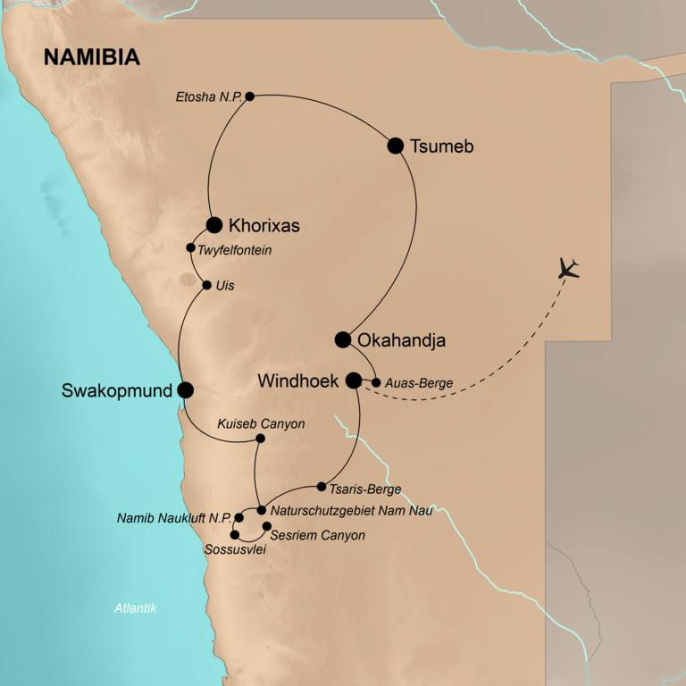 Namibia – Afrikanisches Abenteuer für Genießer