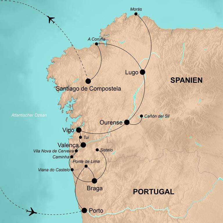 Portugal und Spanien – Porto, Minho und Galizien