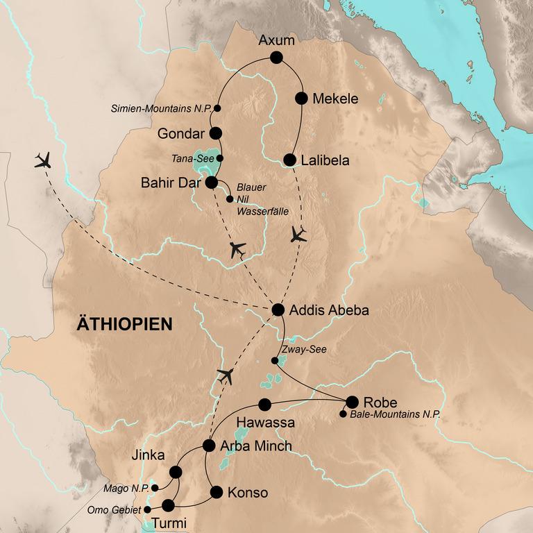 """Äthiopien – Vom """"Dach Afrikas"""" bis zum Omo-Fluss"""