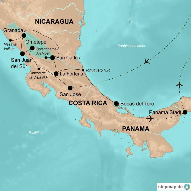 Costa Rica, Nicaragua und Panama – Abenteuer im südlichen Zentralamerika