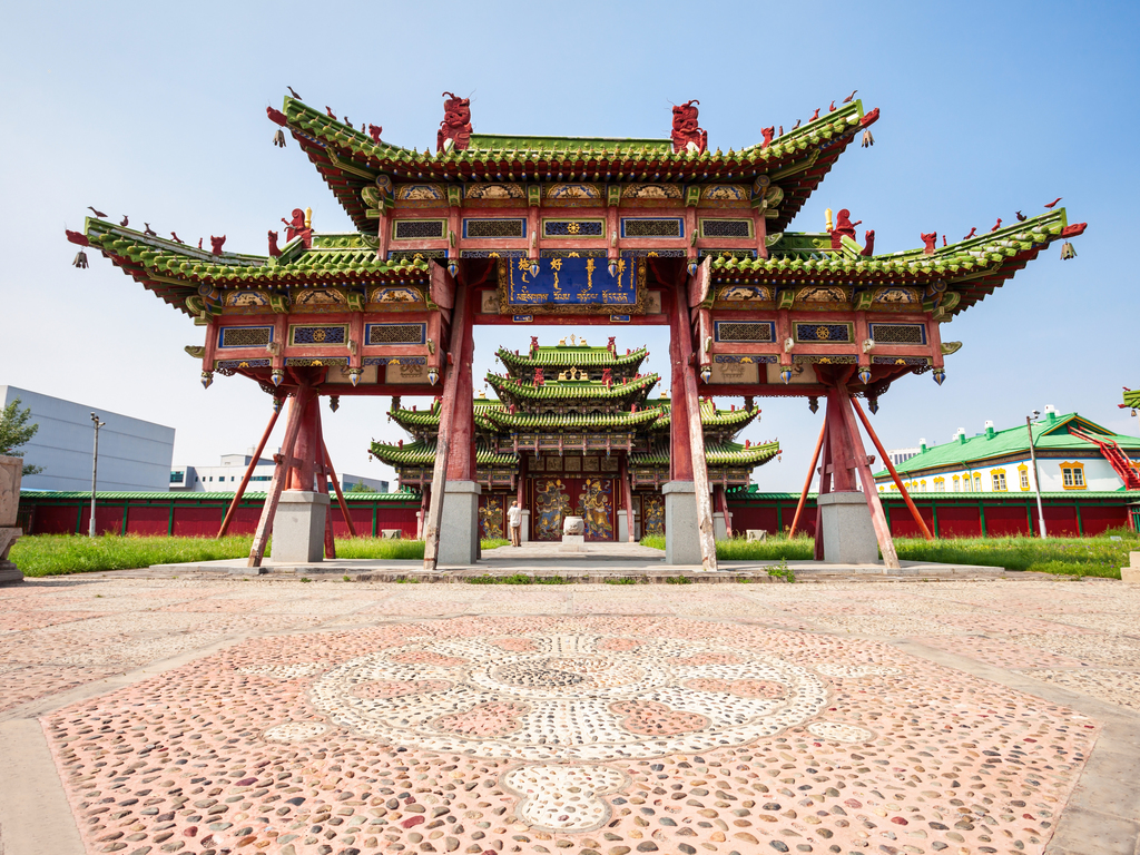 Ulaanbaatar: Ankunft am Morgen, Ulaanbaatar mit Dschingis Khan-Platz, Nationalmuseum und Palast des Bodg Khan
