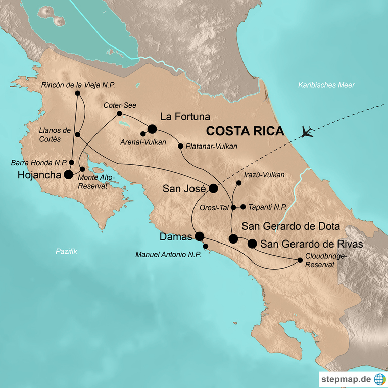 Costa Rica  – Zu Fuß durch das Naturparadies