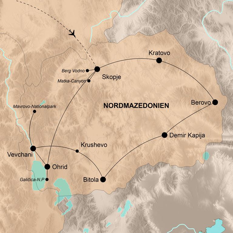 Nordmazedonien – Durch den wilden Balkan