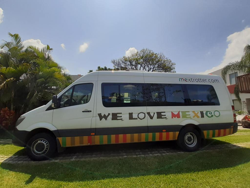 Einer unserer Busse in Mexiko